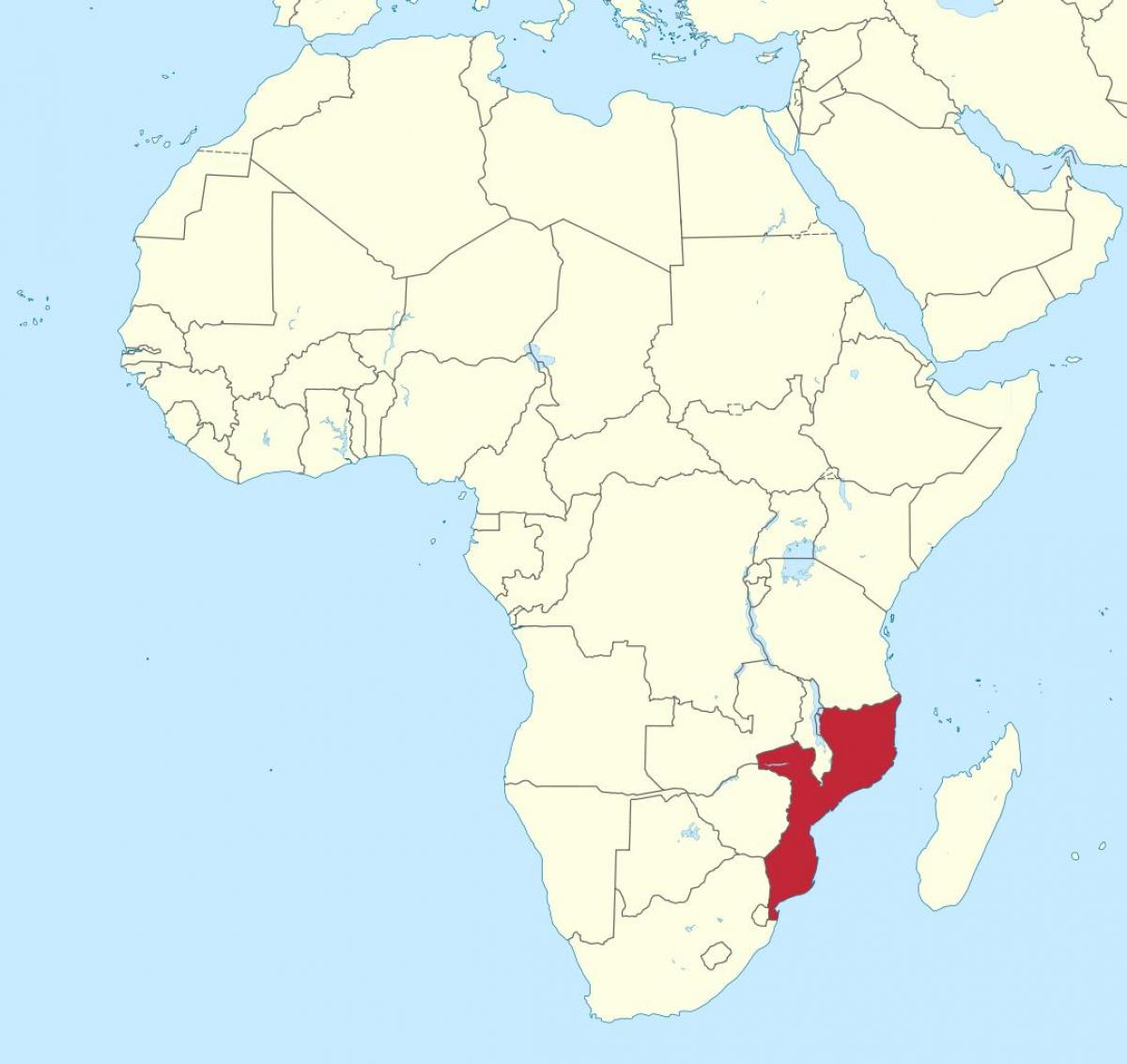 Mozambique Africa Map Map Of Mozambique Africa Eastern Africa