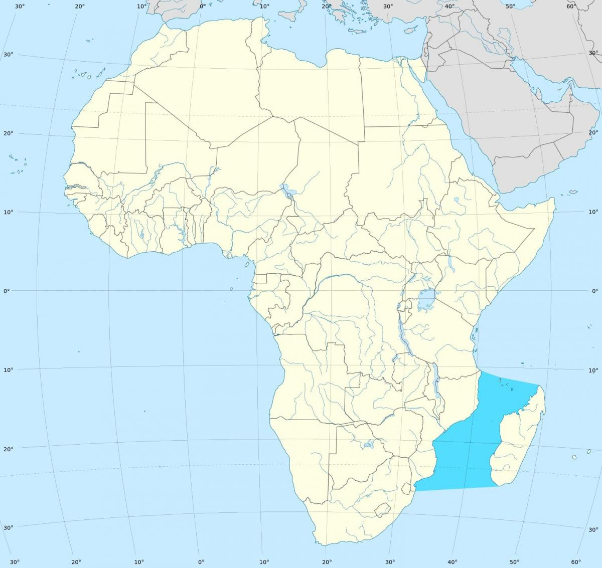 Mozambique channel africa map