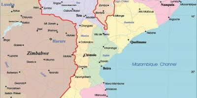 Mozambique Map Maps Mozambique Eastern Africa Africa