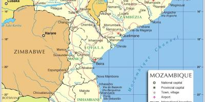 Maputo Mozambique map