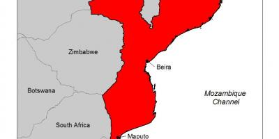 Map of Mozambique malaria