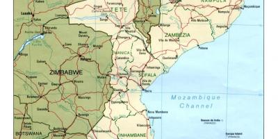 Map of Mozambique map detailed